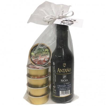 "Pack of ""Rioja Crianza"" with five pâté"