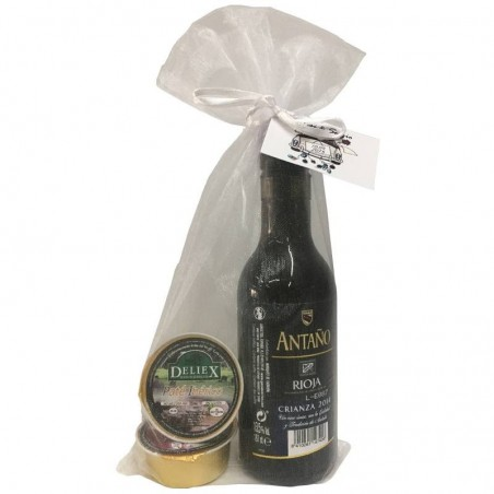 Pack de Rioja Crianza con dos monodosis de paté para boda
