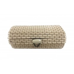 Trunk wicker beige for gift