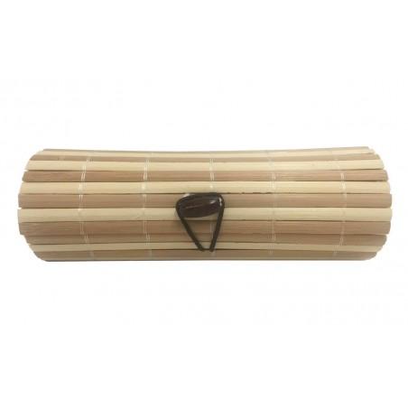 Trunk long of wicker beige-brown