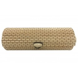 Trunk of wicker beige-green long