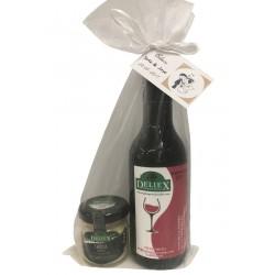 Miniatura vino de Extremadura con crema de torta de la serena Deliex para bodas