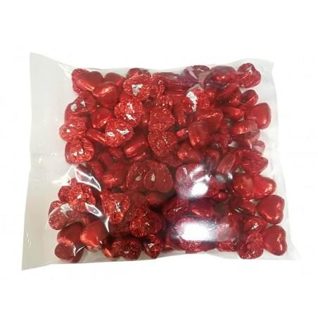 Bolsa de bombones corazón de chocolate con leche rellenos 1 kg para eventos
