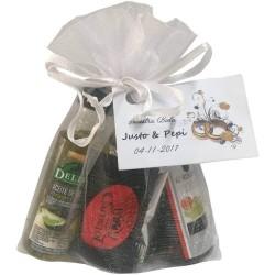 Pack aceite, vinagre y napolitanas surtidas para eventos