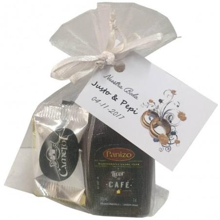 Pack licor de café con napolitanas de chocolate variadas