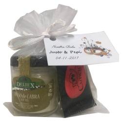Pack queso de cabra con napolitanas de chocolate para detalle