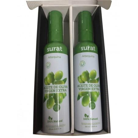 Estuche Surat Dúo con dos aceites de oliva variedad Arbequina