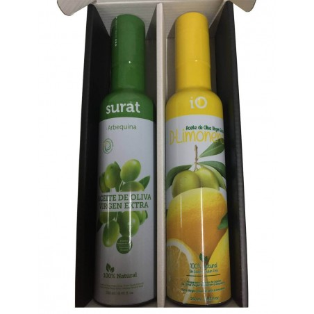 Case for gift with two olive oil IO D-Lemon and Surat DUO