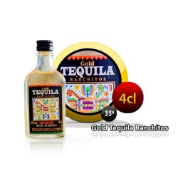 Tequila Ranchitos Gold 4 cl en miniatura