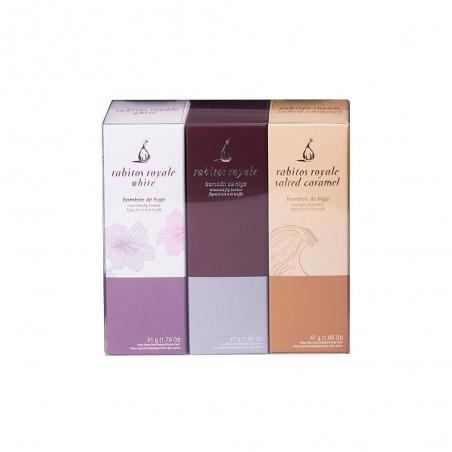 Rabitos Royale pack de trois boîtes variées pour les amateurs de chocolats