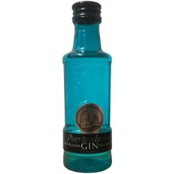 Miniature of gin Puerto de Indias Classic blue 5cl for events