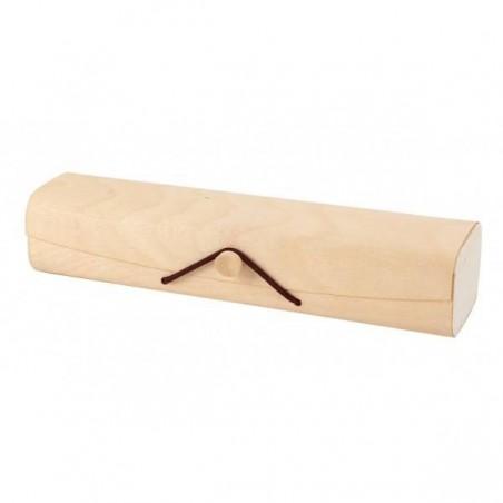 Baúl de bambú largo cuadrado para eventos