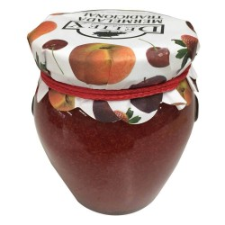 Glass jar Strawberry jam...