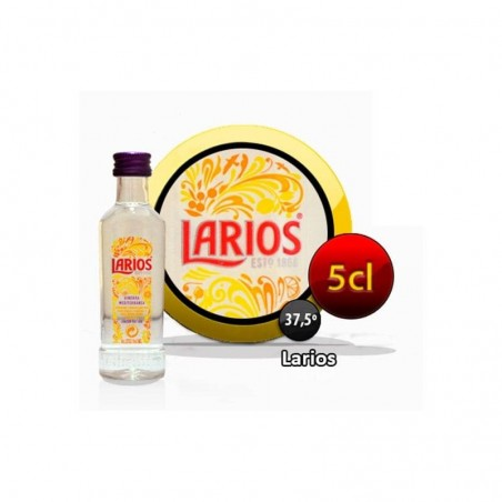 Botella miniatura ginebra Larios