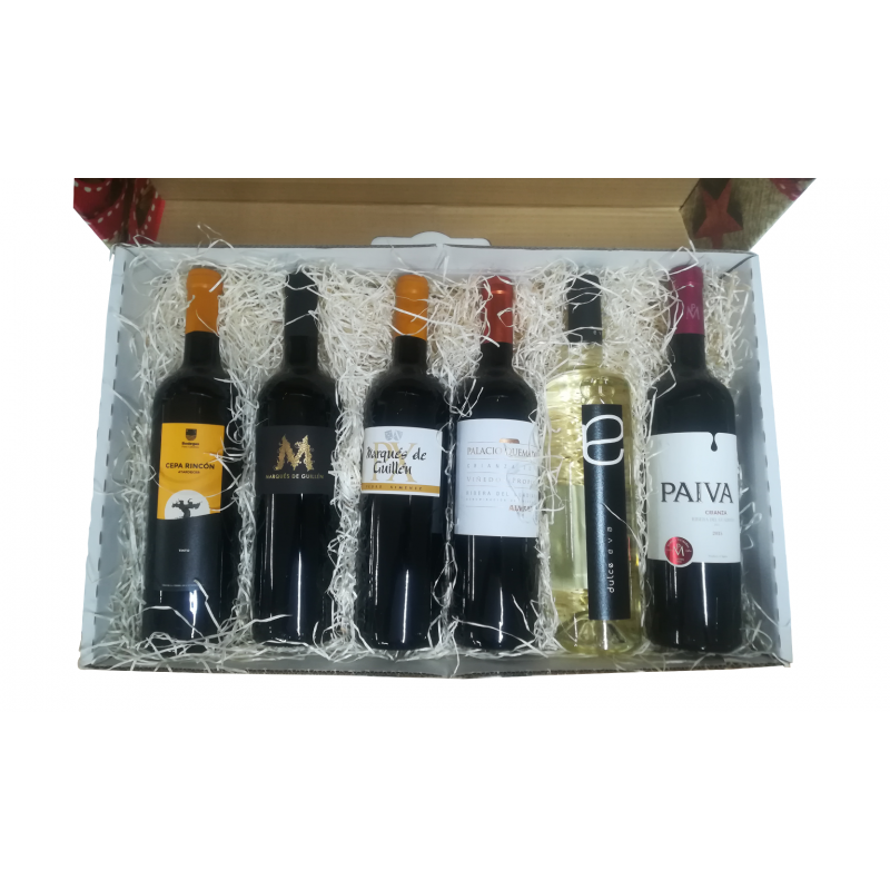 Gift Box With Six Bottles Of Ribera Del Guadiana Wines 75 Cl