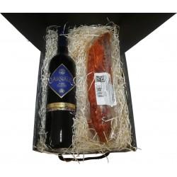 Lote vino Arnaiz con lomo ibérico de bellota regalo para empresa