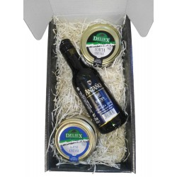 Gift box Deliex with Wine Rioja and sheep's cheese and torta Serene