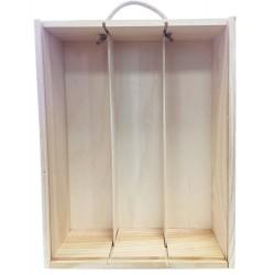Boîte en bois pour 3...