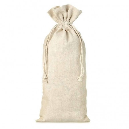 Sac en lin naturel beig 13x27