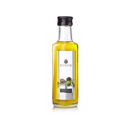 Bouteille en verre huile d'olive extra vierge (100 ml)