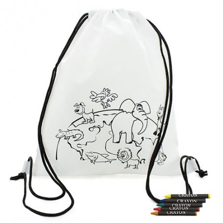Children's backpack coloring