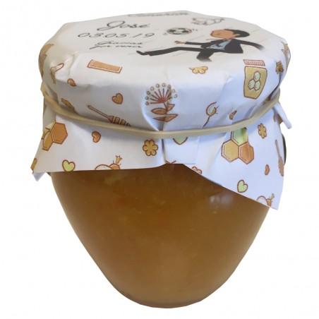 Mermelada personalizada para regalar en bautizos sabor naranja 250 g