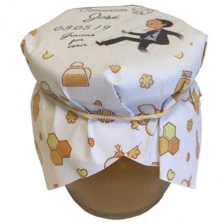 Miel con almendras 115 gr envoltorio personalizable.