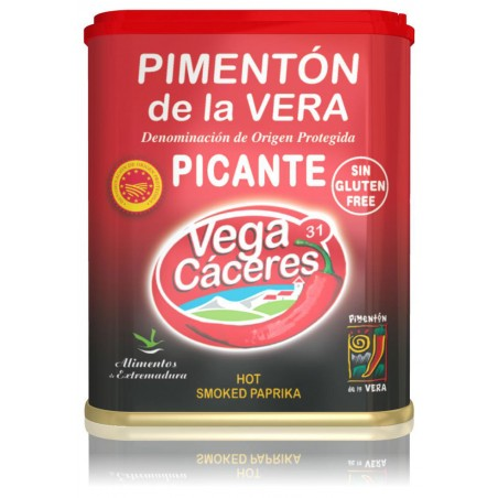 Pimentón de la Vera Ahumado picante (Lata 75g) D.O.P