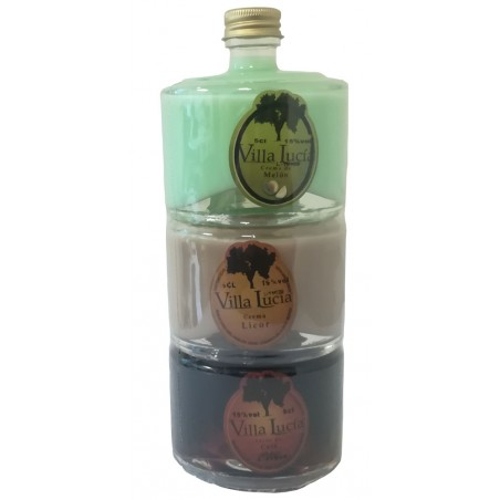 Stackable liquor pack Viallucia for fairs gift