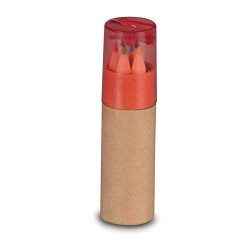 Round Case with Red Child Pencil Sharpener