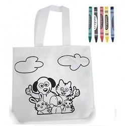Bolsa Animales Infantil para Colorear.