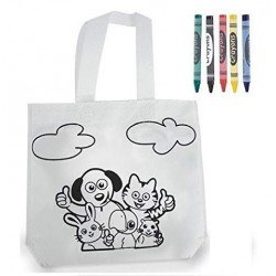 Kids Animal Bag Coloring.