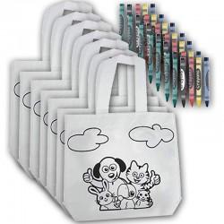 Pack 30 bolsas infantiles para colorear con ceras para detalles de bodas