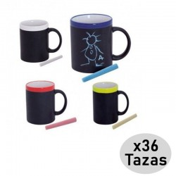 Pack 36 Ceramic Slate Cups for children's gift