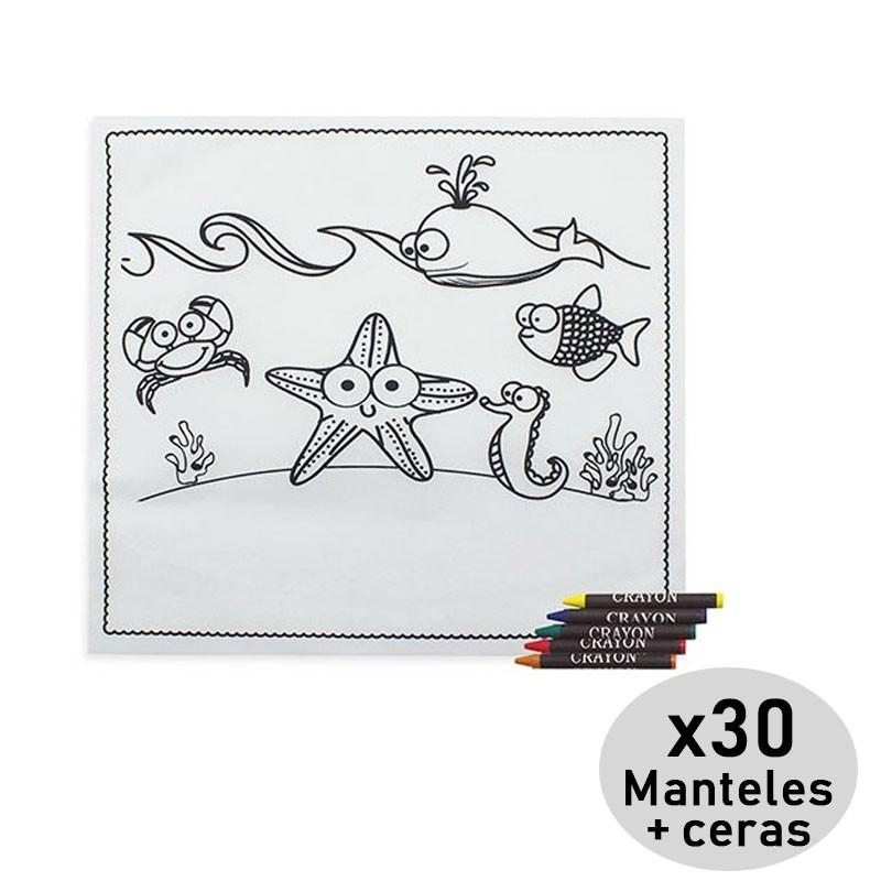 Pack De 30 Manteles Para Colorear De Regalo Cumpleaños