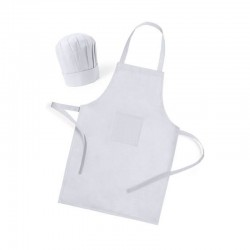 White Apron with Chef Hat for cooking