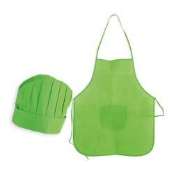 Delantal y Gorro de cocinero para regalos cumpleaños (Verde)
