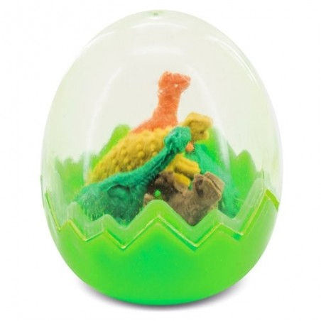 Set erasers egg with dinosaurs