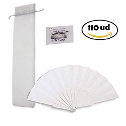 110 Folding fans with Organza Bag and Event Cards