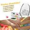 Pack anniversaire pour enfants 16 sacs à dos, 16 étuis, 16 crayons flexibles et 32 paquets de cires.