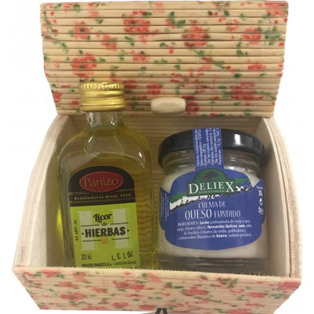 Pack of miniature herbs liquor with cheese Deliex
