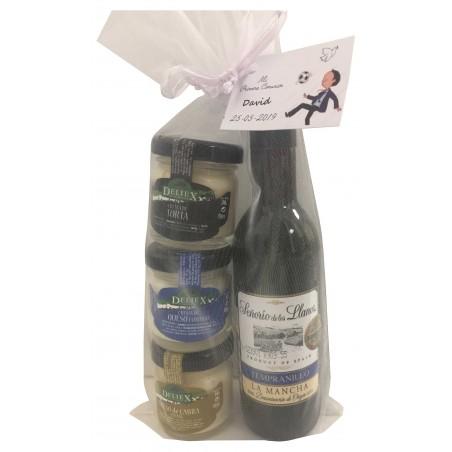Pack regalo vino Señorío más quesos Deliex para celebraciones