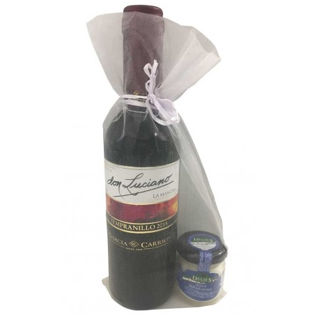 Wine Don Luciano for gift with cheese cream