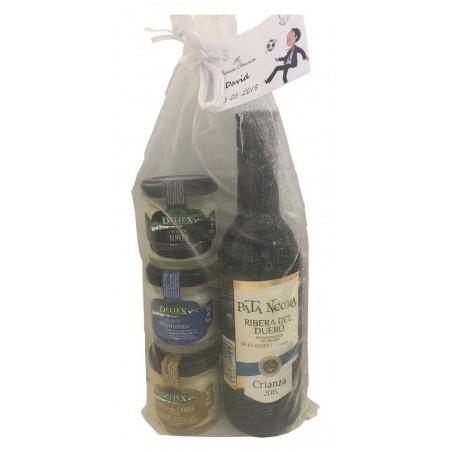 Pack cadeau vin Ribera del Duero Pata Netra et fromages Deliex pour vos cérémonies
