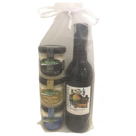Pack cadeau vin Mayoral Jumilla et fromages Deliex mini