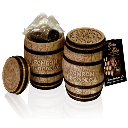 Gift ceramic barrel with chocolate