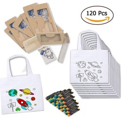 (AMAZON) 20 Bags Planets with Waxes, 20 Coloring Books, 20 Set of pencils, 20 pencil sharpeners and 20 Rules