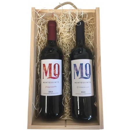 Coffret cadeau avec deux vins de la Rioja