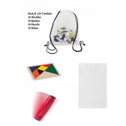 Estupendo Lote regalo de cumpleaños Mochilas +Rondux + Puzzles ingenio+bolsas para guardar los regalos