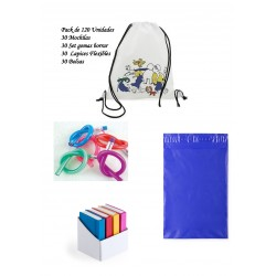 Fabulous set of children's birthday gifts Coloring backpacks + Flexible pencils + erasers